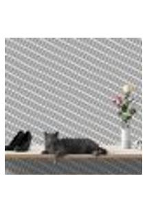 Papel De Parede Autocolante Rolo 0,58 X 5M - Preto E Branco 459