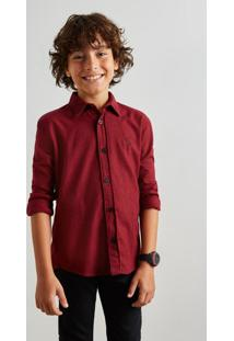 Camisa Mini Pf Pied Poule Color Reserva Mini Bordô
