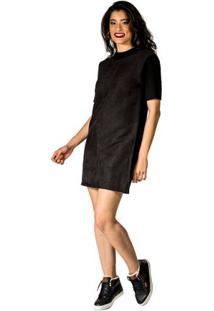 8ccec4bd07 Vestido Suede Tachas feminino