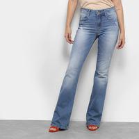 699692a2b8 Calça Jeans Flare Colcci Estonada Cintura Média Feminina - Feminino