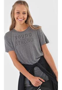 Camiseta Colcci Young And Strong Cinza - Cinza - Feminino - Viscose - Dafiti