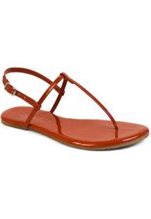Rasteira Básica Mercedita Shoes Feminina - Feminino-Vermelho