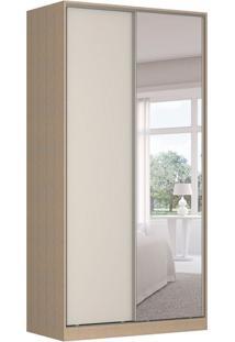 Guarda-Roupa Solteiro Com Espelho Tunas Iv 2 Pt 3 Gv Noce E Branco