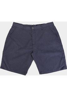 Bermuda Delkor Plus Size Mini Print Masculina - Masculino-Marinho