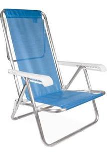 Cadeira Reclinável Alumínio 8 Posições - Unissex