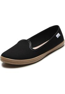 Slipper Beira Rio Color Preto