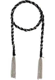 Saint Laurent Tassel-Detailed Chain Necklace - Preto