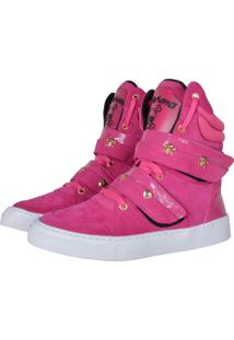 1c6eff0b5d4 Sneaker Cano Longo Rosa feminino