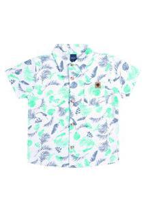 Camisa Infantil Masculino Dila Branca Em Estampa