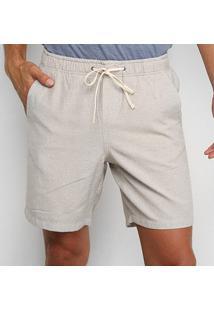 Bermuda Calvin Klein Masculina - Masculino-Areia