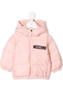 Moschino Kids Padded Hooded Jacket - Rosa
