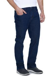 Calça Masculina Reta Em Jeans Marisa