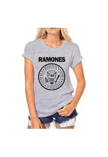 Camiseta Coolest Ramones Cinza
