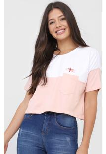 Camiseta Cropped Hang Loose Enjoy Rosa - Rosa - Feminino - Dafiti