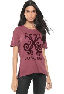 Camiseta John John Floco Wine Vinho