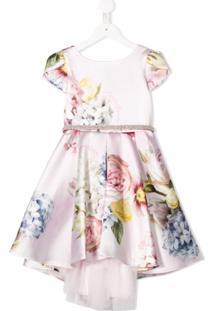 Monnalisa Vestido Com Estampa Floral - Rosa