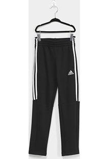 Calça Infantil Adidas Mh 3S Tiro Yb Masculina - Masculino-Preto+Branco