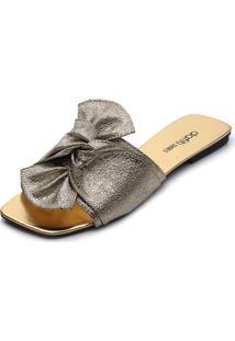 Rasteira Dafiti Shoes Nó Dourada