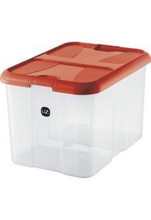 Caixa Organizadora Plus Vermelha 40 L