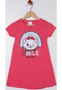 Vestido Disney Infantil Para Menina - Coral
