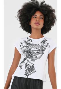 Camiseta Coca-Cola Jeans Floral Branca - Kanui
