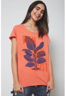 Camiseta Oh,Boy! Nascente Feminina - Feminino-Vermelho