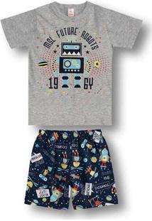 Pijama Marisol Infantil 10316396I Cinza