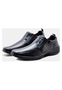 Sapato Social Pipper Comfort Couro Preto