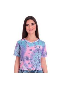 Camiseta Feminina Fantasy Sublimação Fenda Lateral Calfin