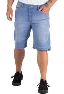 Bermuda Jeans Alfa Making Bolso Antifurto - Masculino-Azul