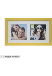 Painel Multifotos Insta- Amarelo & Branco- 15X28X1,5Kapos