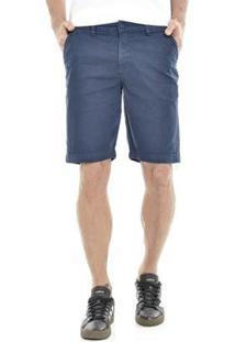 Bermuda Get Fashion Dialogo Jeans Slim Color Masculina - Masculino-Marinho