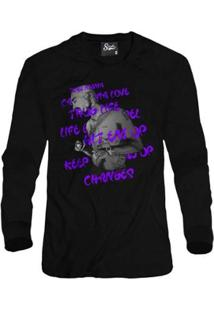 Casaco Moletom Skull Clothing Tupac Song Masculino - Masculino-Preto