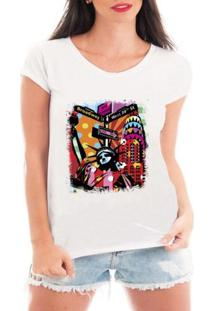 Camiseta Criativa Urbana New York City - Feminino-Branco