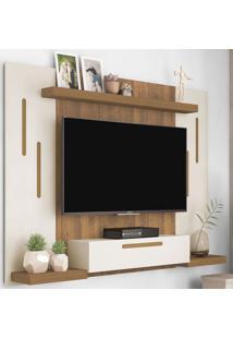 Painel Para Tv Até 50 Polegadas Cronos Off White/Pinho - Artely