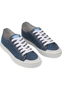 Tenis Ckj Masc Jeans Cano Baixo Skate - Azul Royal - 42