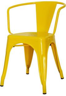Cadeira Iron Tolix Com Braco Com Pintura Epoxi Amarela - 48196 Sun House