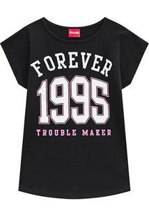 Blusa Infantil Amora Forever 1995 Feminina - Feminino-Preto