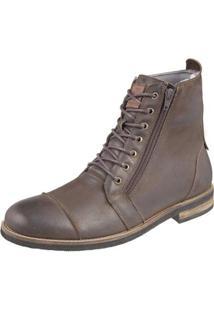 Bota Shoes Grand Ziper Masculina - Masculino-Marrom Escuro