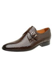 Sapato Masculino Malbork Trançado Couro 60462 Café