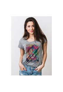 Camiseta Feminina Mirat Watercolor Lion Mescla