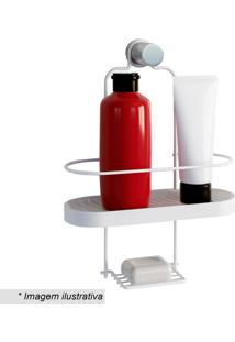 Porta Shampoo Wave- Branco- 34,5X25X10Cm- Metaltmetaltru