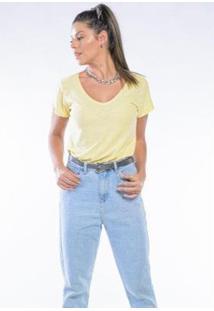 Camiseta Cia Gota Manga Curta Basic Woman Feminina - Feminino-Creme
