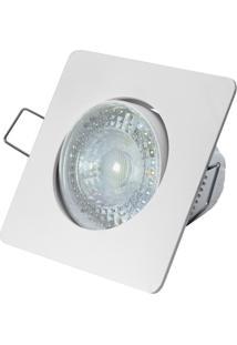 Spot Led De Embutir Quadrado Sp 25 5W Autovolt 6500K Luz Branca