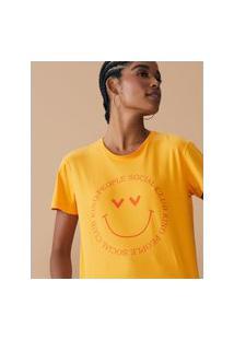 Amaro Feminino T-Shirt Regular Kind People Social Club, Amarelo