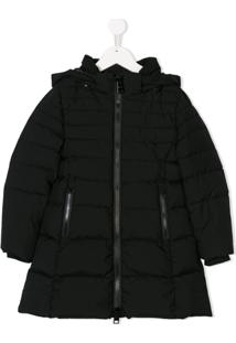 Herno Kids Hooded Padded Coat - Preto