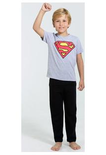 Pijama Infantil Super Homem Liga Da Justiça