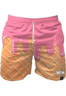 Bermuda Maromba Fight Wear Ice Cream Com Bolsos Masculina - Masculino-Rosa