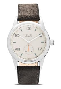 Nomos Glashütte Relógio Club Campus 38Mm - White, Silver-Plated
