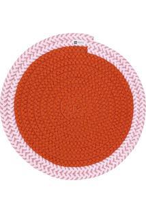 Jogo Americano Orbis Uniborder Orange 2 6 Pecas - 36X36